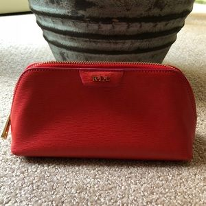 NEW Ralph Lauren Leather Cosmetic Bag